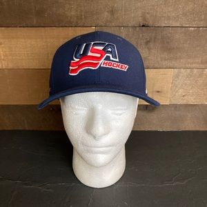 Nike Usa Hockey Dri Fit Blue Classic99 Fitted Hat